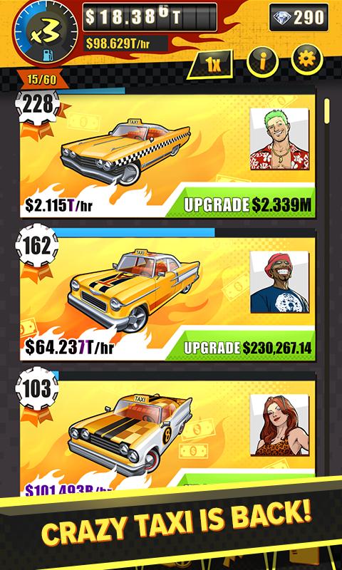 Crazy Taxi Gazillionaire Apk Mod