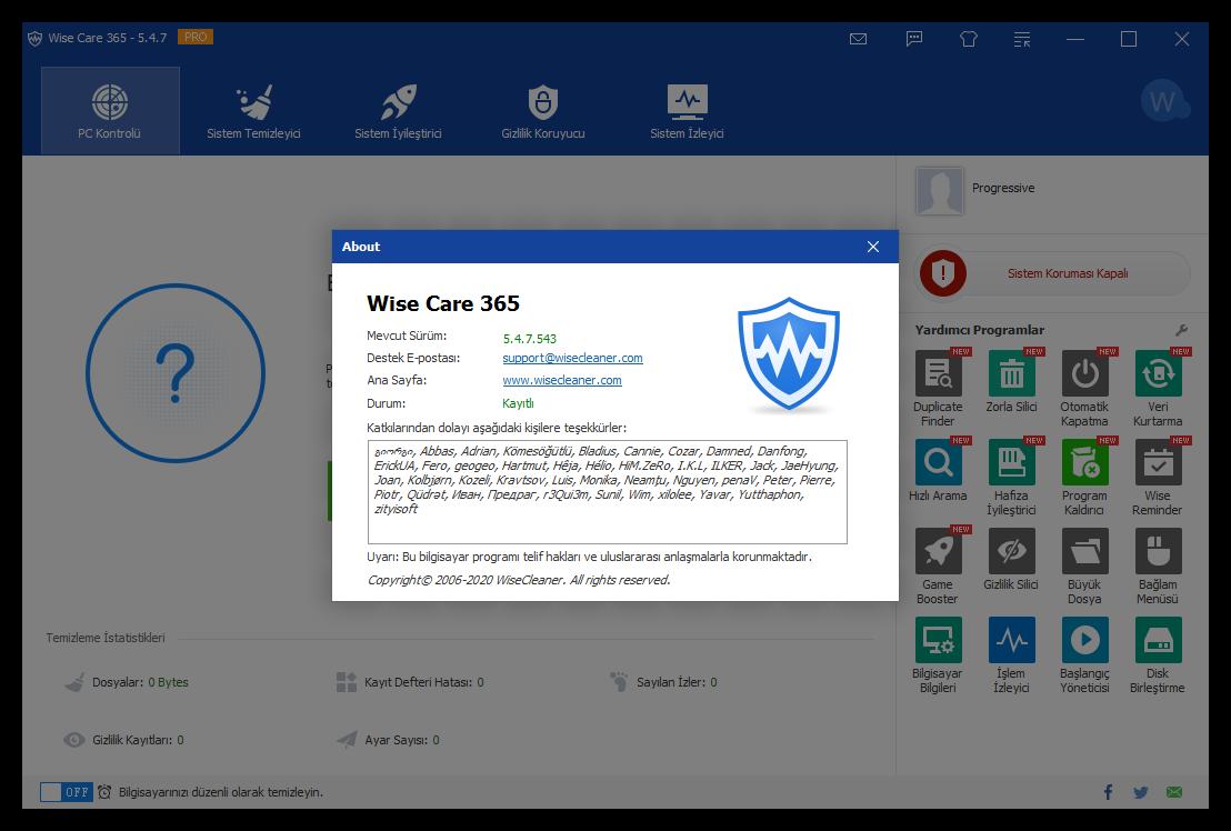 WiseCare365 Pro 5.9.1.582 | Katılımsız