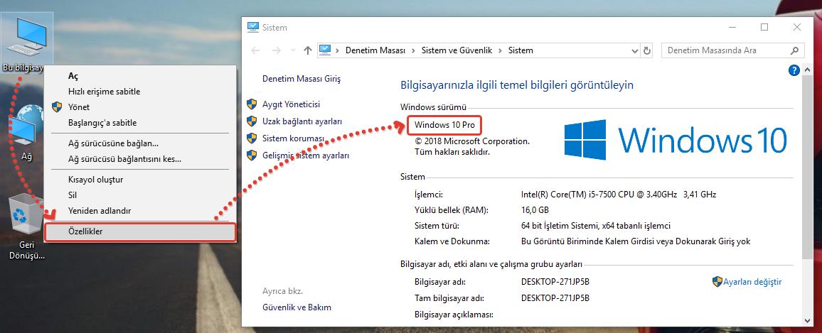 Windows Surumu Ogrenme