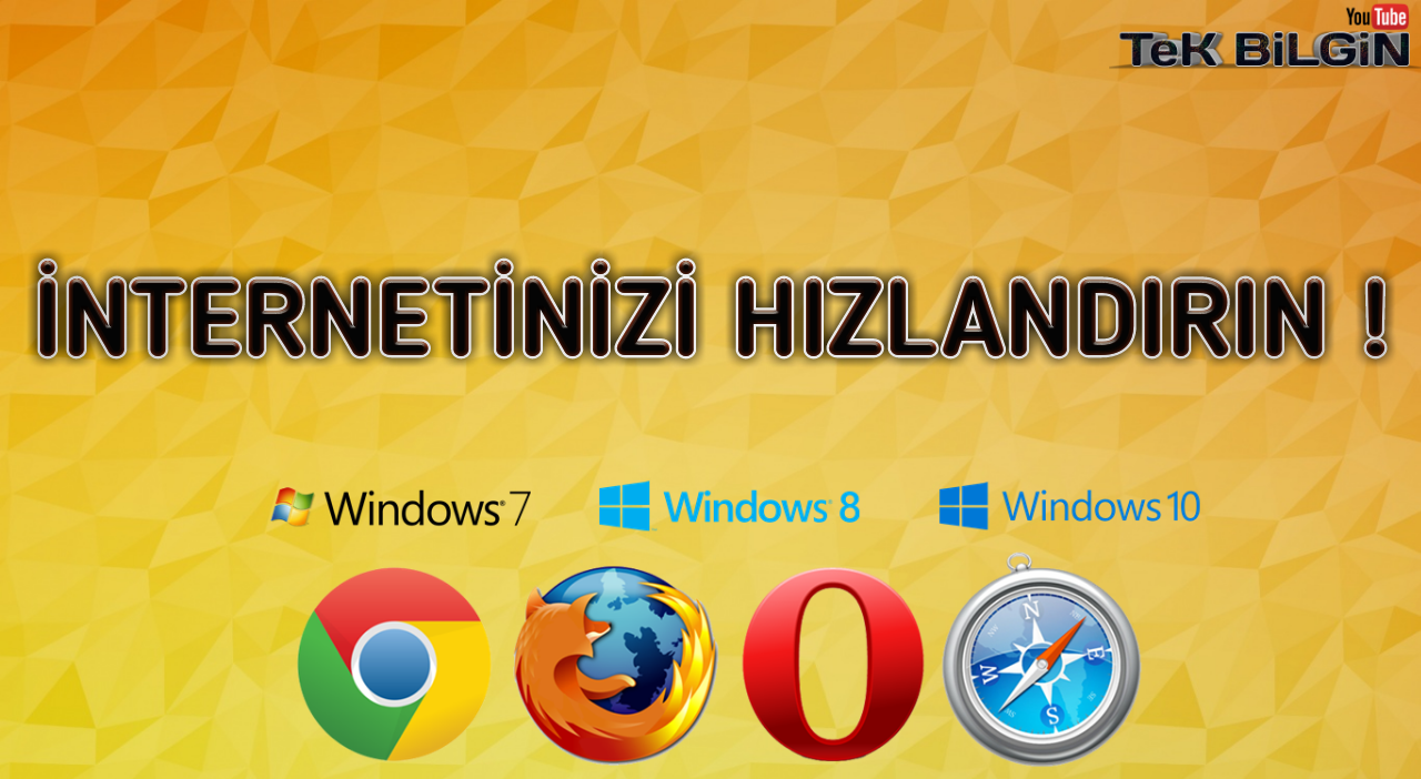 İnternet HIZINI Arttırın ! (Windows 7 - 8 - 10)
