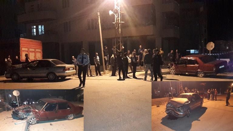 Mut'ta trafik kazası 2 yaralı