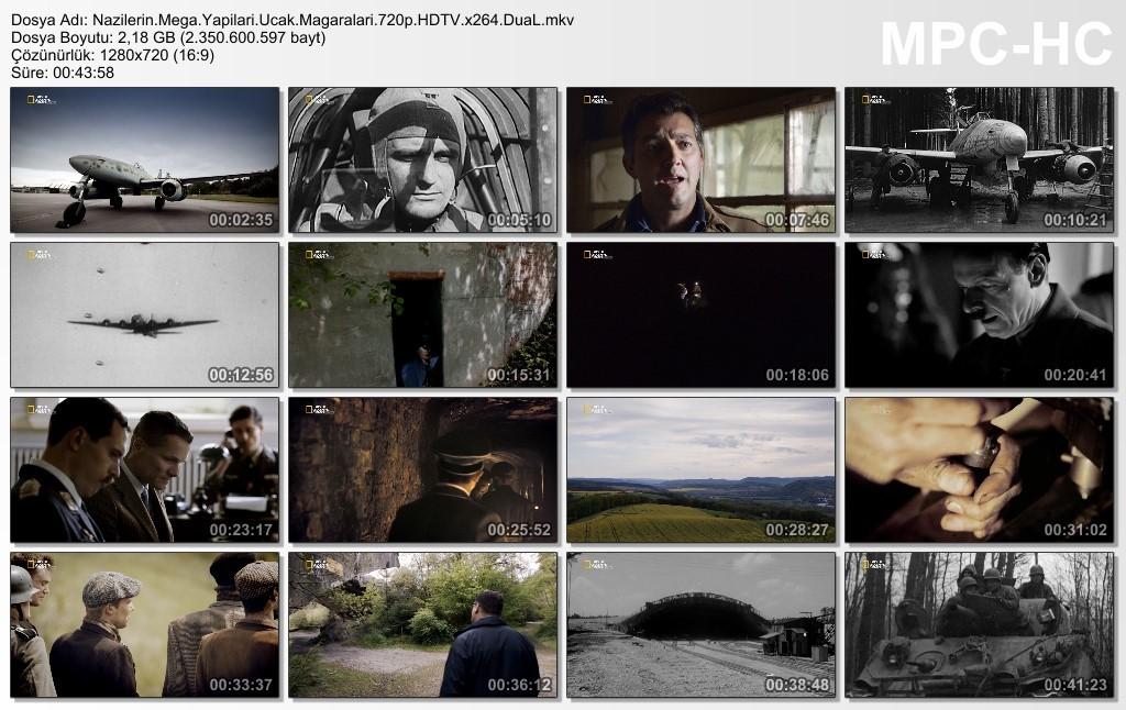National Geographic - Nazilerin Mega Yapıları (Uçak Mağaraları) HDTV TR-EN DUAL x264