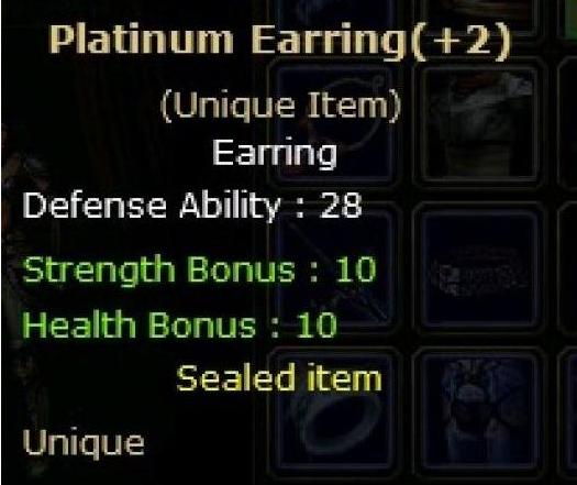 Platinum Earring +2