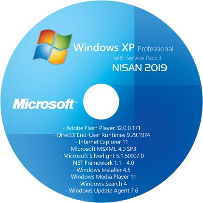 Windows XP Professional SP3 (x86) TR - [27 NİSAN 2019]