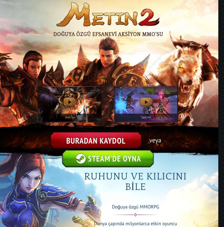 Metin2 Steam Kayıt Ol