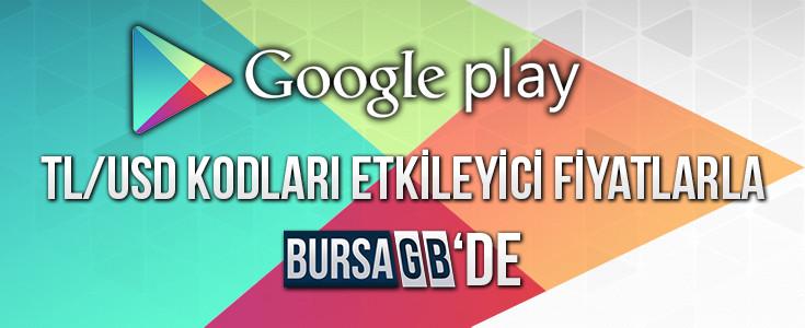 En Uygun Google Play TL USD Kodları BursaGB de