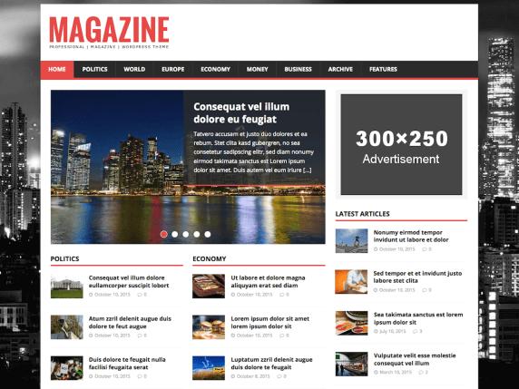 Wordpress Magazine lite Teması