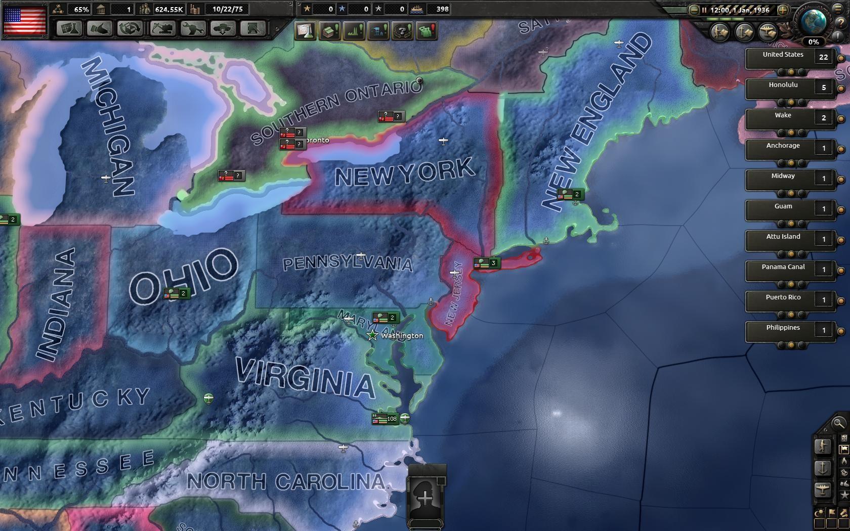 Hearts of Iron IV'de Amerika Birlesik Devletleri - Strategyturk