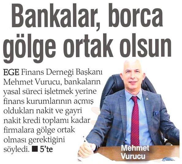 BANKALAR, BORCA GÖLGE ORTAK OLSUN -  Haber Ekspres (İzmir)
