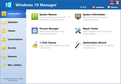 Yamicsoft Windows 10 Manager 2.2.5
