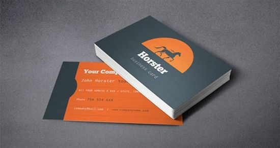 Horster Business Card Template