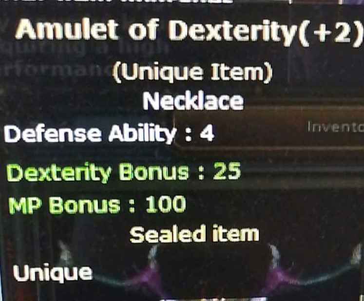 +2 Amulet Of Dextery