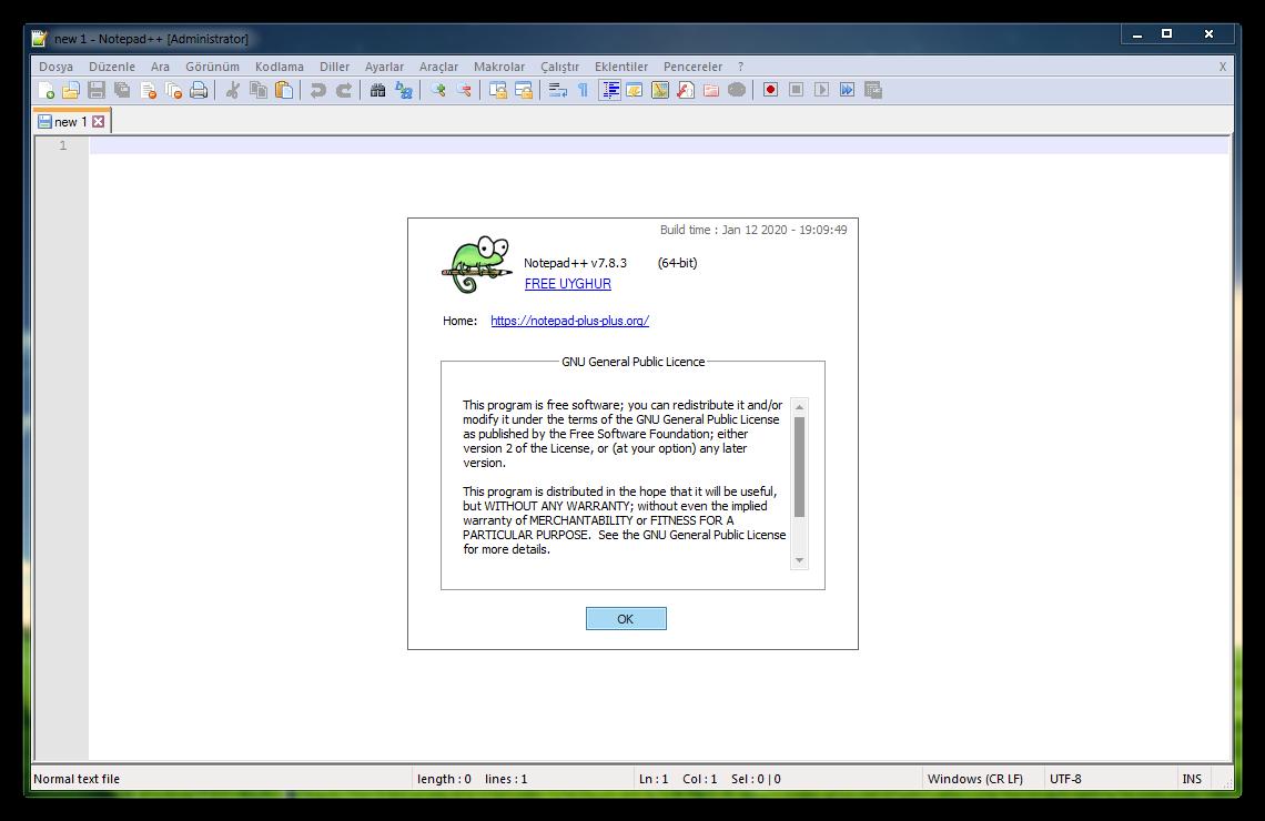 Notepad++ 7.9.1   Katılımsız