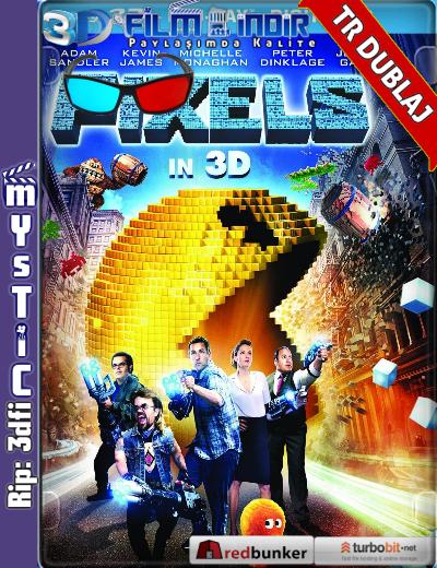 Pixels 3D (2015) ( BluRay m1080p 3d) Türkçe Dublaj 3 boyutlu film indir
