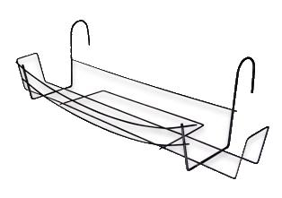 ferforje balkon saksı askısı