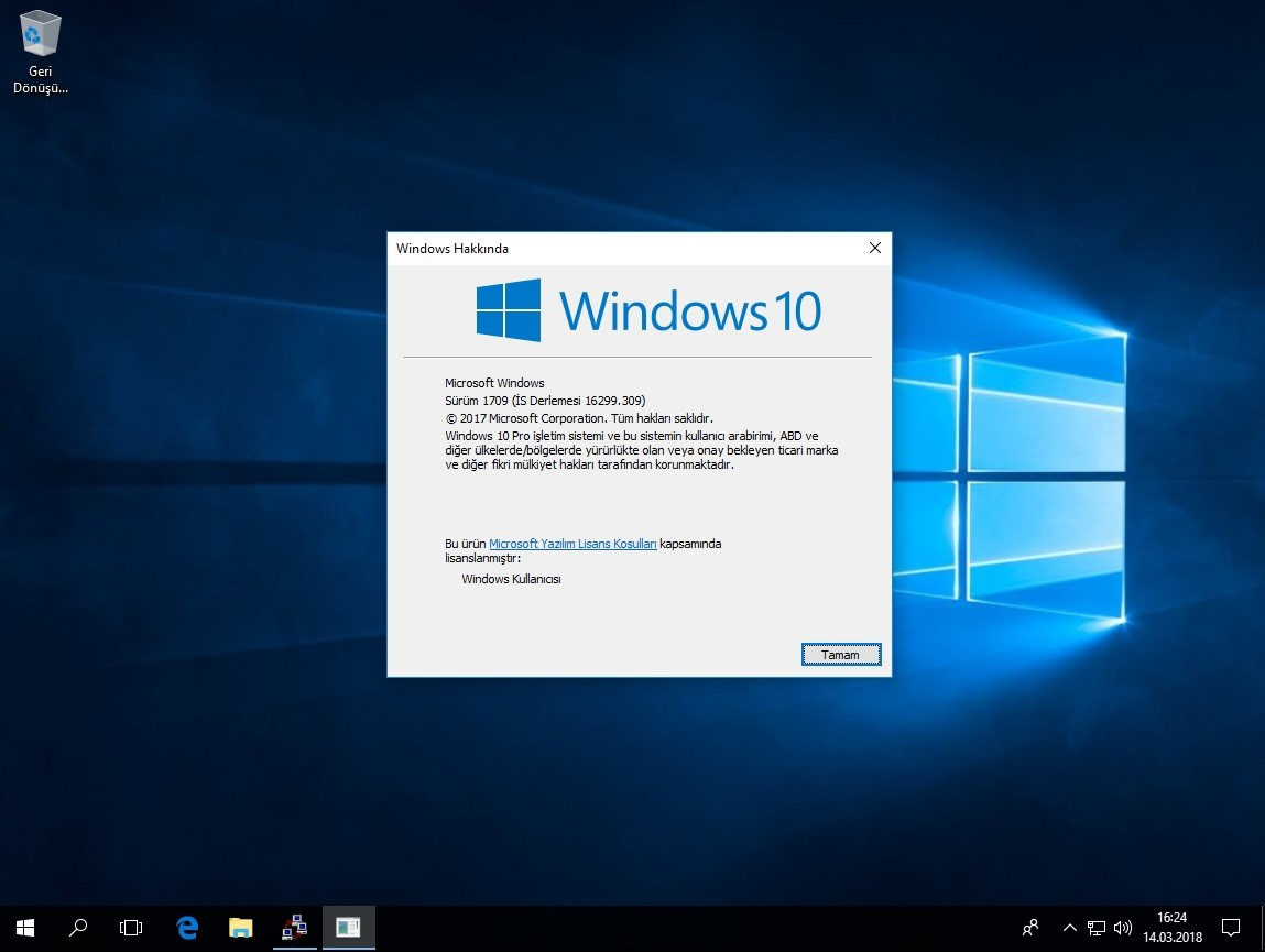Windows 10 Pro [x32 - x64] - Mart 2018 - Türkçe