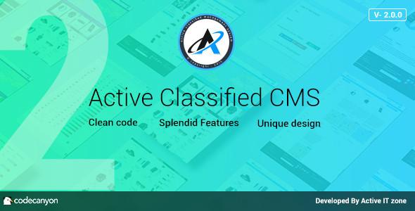 CMS Active Classified Scripti indir