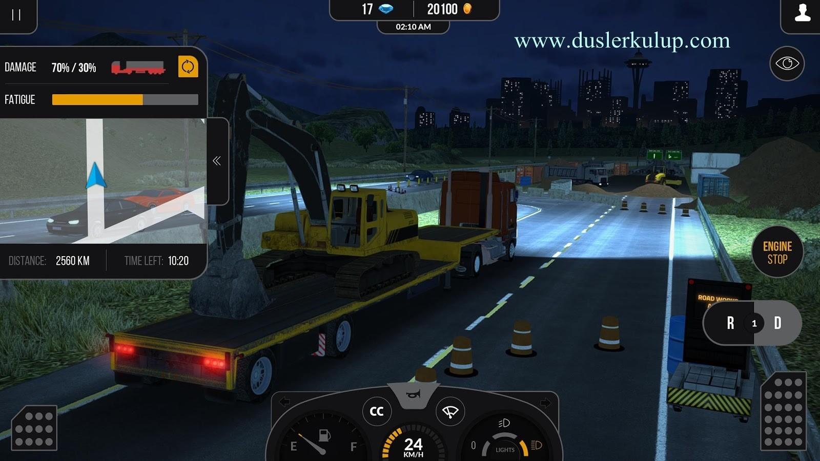 android truck simülatör 2017 oyununu yükle