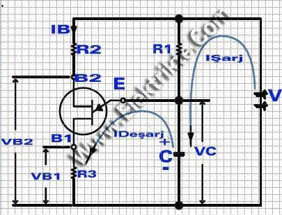 UJT osilatör şeması