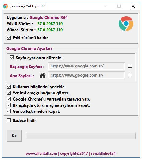 Google Chrome Çevrimiçi Yükleyici 1.1.1