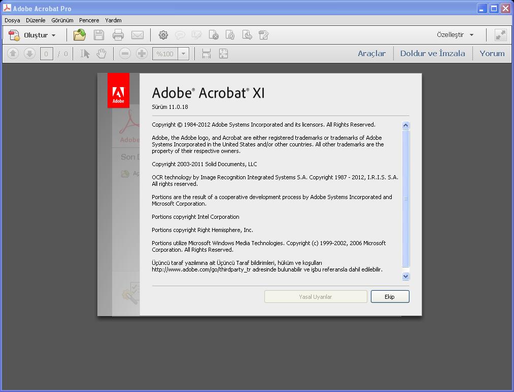 Adobe Acrobat XI Pro 11.0.18 TR | Katılımsız