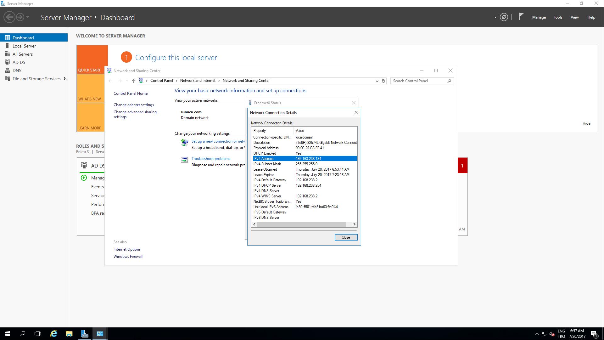 İstemci - Sunucu Bağlantısı ve Active Directory - Hızlı Resi