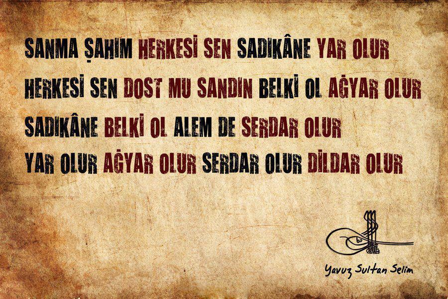 Odbvn3 - Yavuz Sultan Selim ne g�zel yazm��