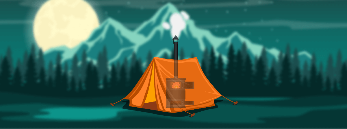 kamp sobası ile ısıtma