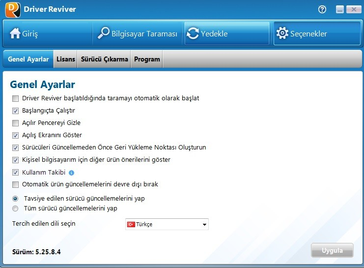 Driver Reviver 5.25.8.4 Türkçe | Katılımsız