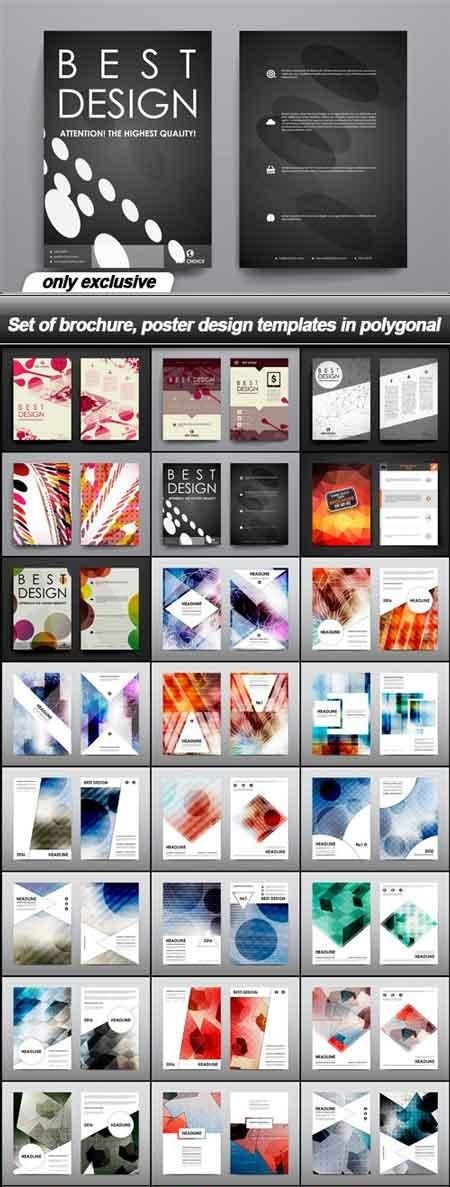 Set of Brochure-Poster Design Template