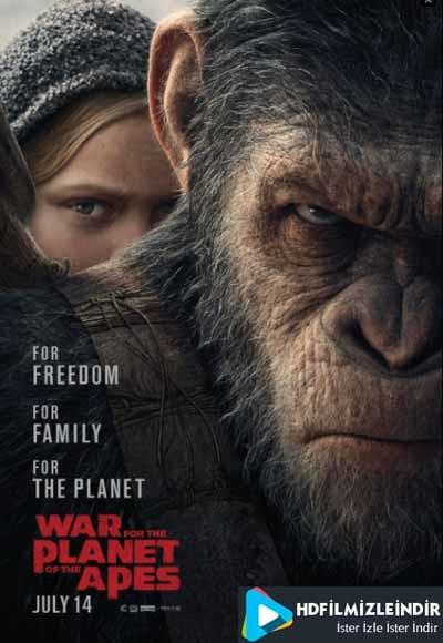 Maymunlar Cehennemi 3: Savaş - War for the Planet of the Apes (2017) Türkçe Dublaj İzle İndir Full HD 720p Tek Parça