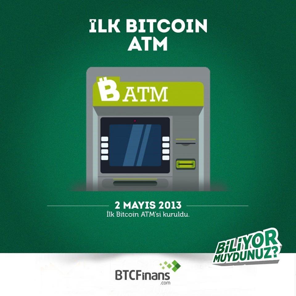 İlk Bitcoin ATM