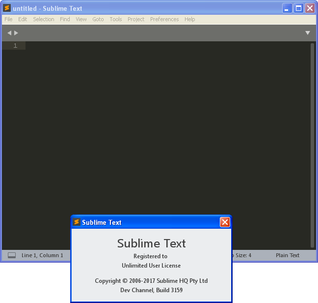 Sublime Text Dev Build 3165 | Katılımsız