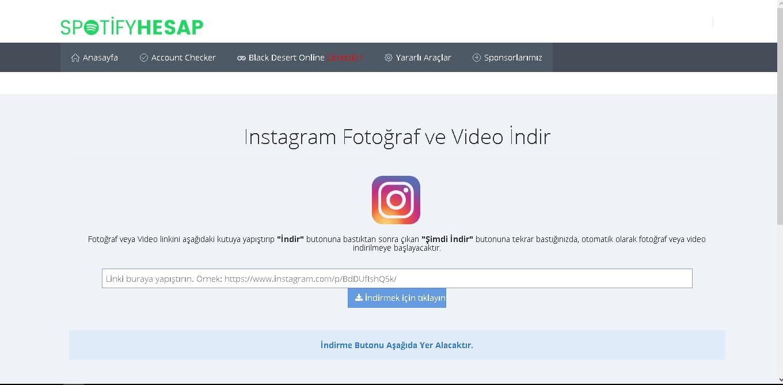 instagram video indirme linki