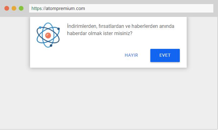 Atom Premium, Bildirim