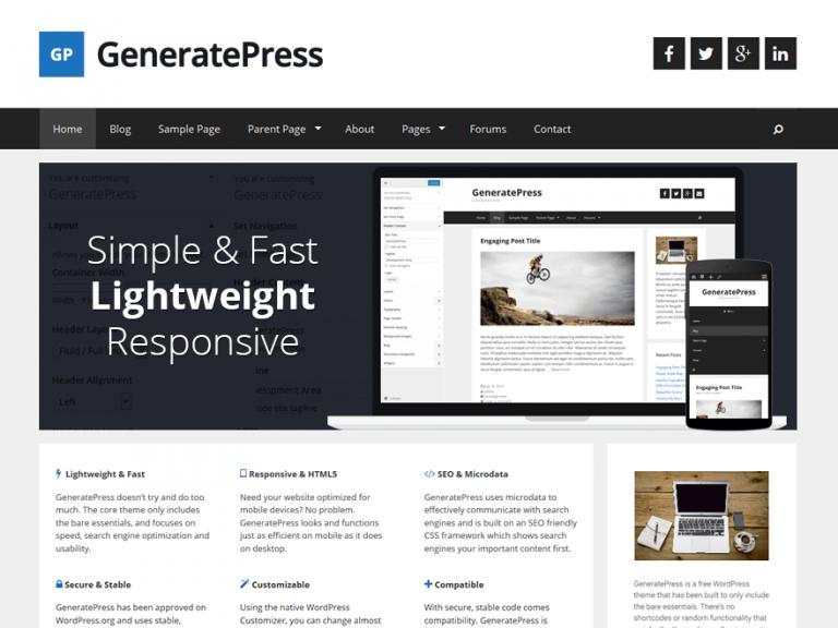 GeneratePress Teması