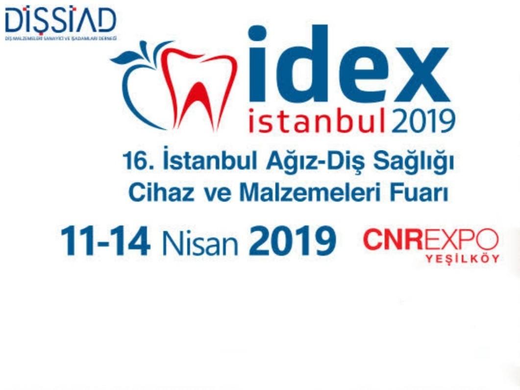 IDEX 2019  16.İstanbul Ağız-Diş Sağlığı Cihaz ve Ekipmanları Fuarı