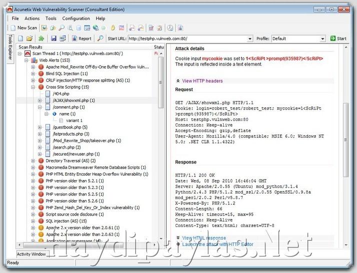 Acunetix Web Vulnerability Scanner - Программа поможет обнаружить прорехи в