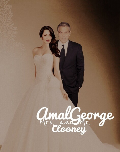 Photos: George Clooney with Amal Alamuddin P3QDVd