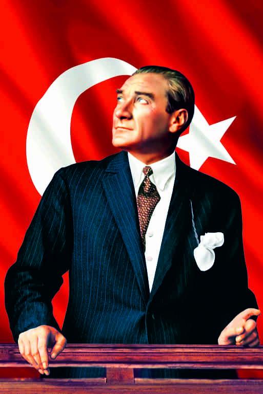 Resimdeki Atatürk Posterinden