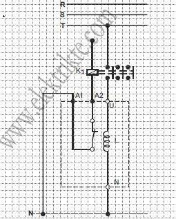 monofaze şönt reaktör bağlantısı