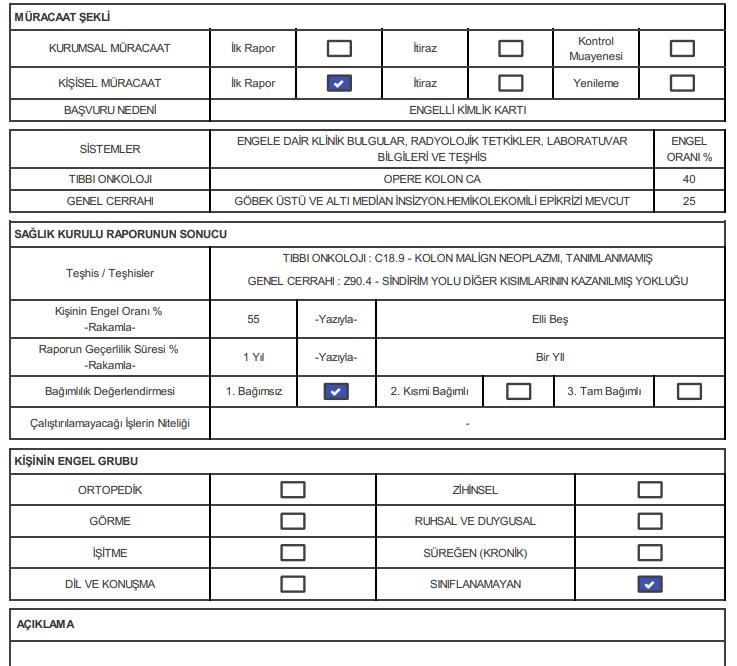 P73Yo5 - Kolon kanseri ve sol hemikolektomi engel oranı ne olur?