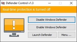Windows Defender Control 1.4 | Portable