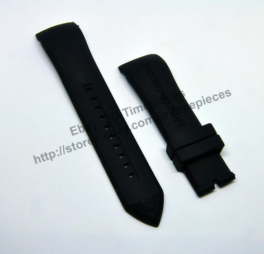56168f1e4187 Emporio Armani Tazio AR5977 AR5978 AR6053 - 23mm Rubber   Silicone Watch  Band