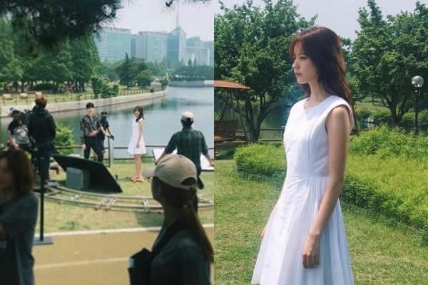 """Han Hyo-Joo ve Lee Jong-Suk """"W"""" Dizisinin Setindeki Uyumu"""