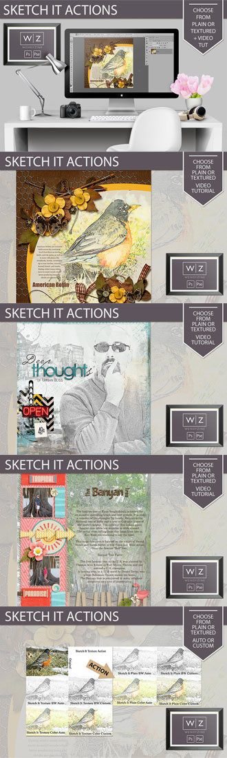 Sketch It Actions 872386