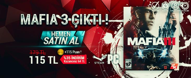 %35 Indirimli Mafia 3 Steam Cd Key BursaGB Stoklarinda !