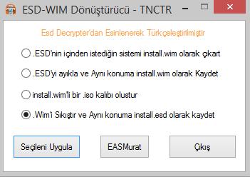 EASM Esd Ayıklayıcı Decrypter Tr
