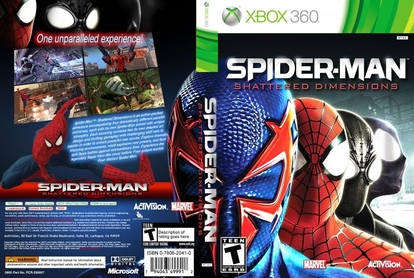 spider-man: shattered dimensions xbox 360 jtag