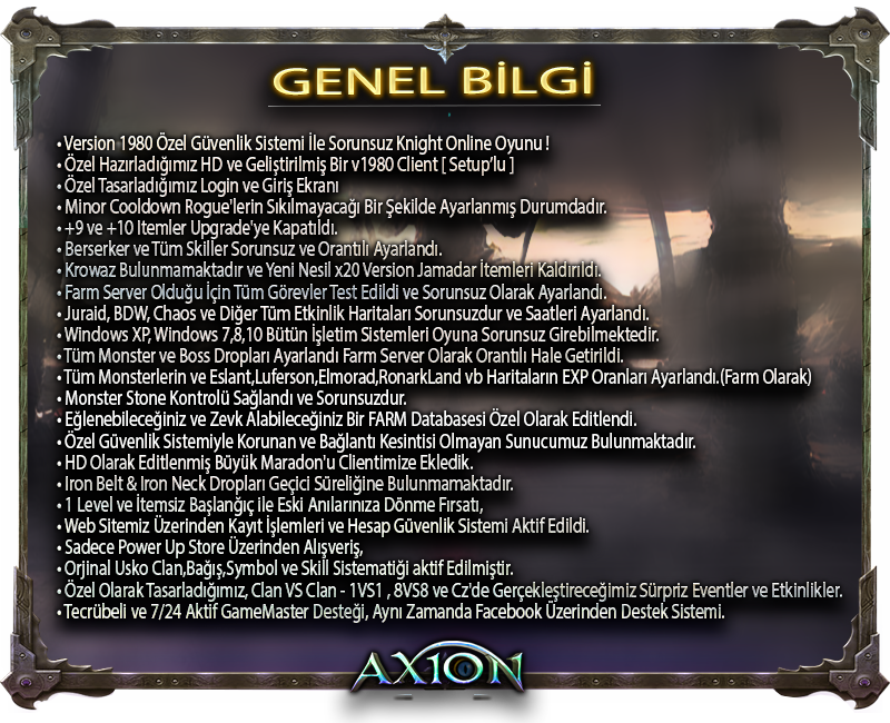AxionGame OFFICIAL 15 Nisan 2016 Cuma 20:00 |v1980 Farm|Yeni Haritalar|Özel DB,Hediyeli Etkinlikler. PklznO